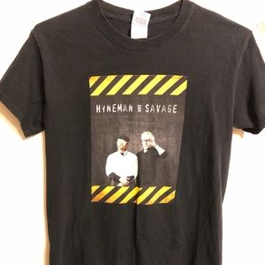 Mythbusters Black Tee Shirt with Adam and Jamie